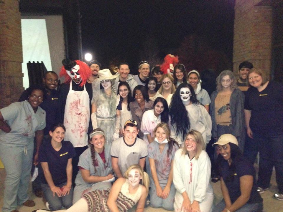 Haunted Bell Tower. Staff shot. Event presented by CCI on North Campus each October.