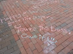 Chalk Writing on the Diag