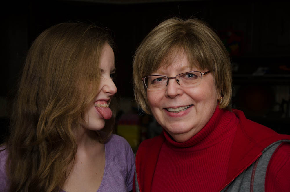Me in clear brackets & my mom as a much more cooperative model