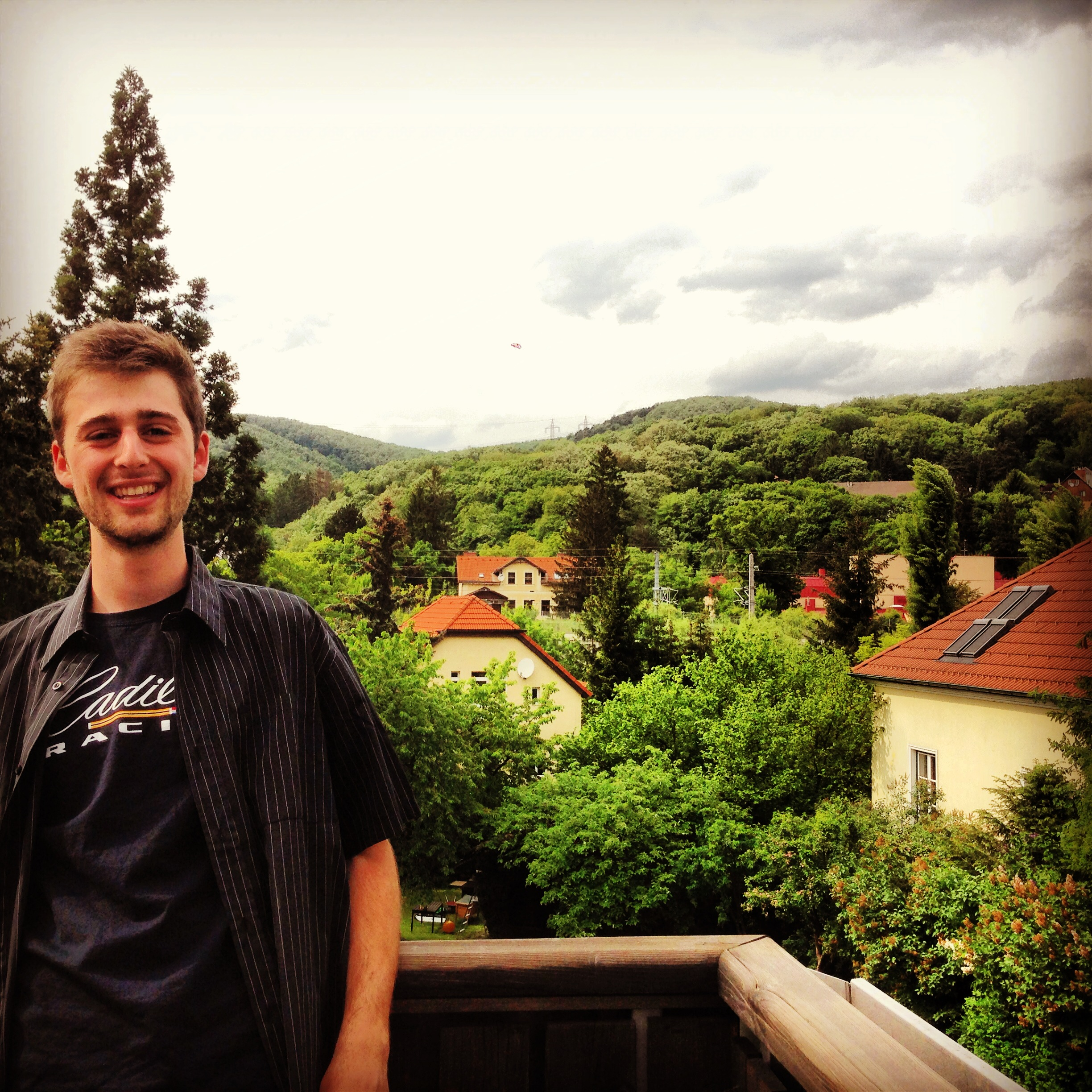 Myself, in the residential foothills of the Alps in the Vienna country side.