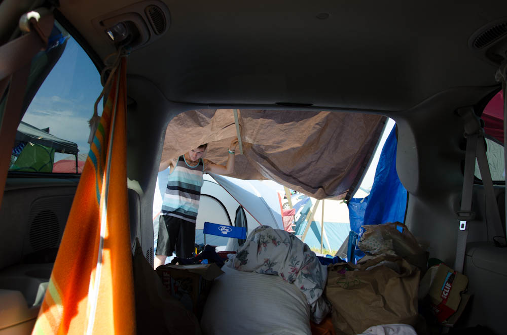 living out of the van