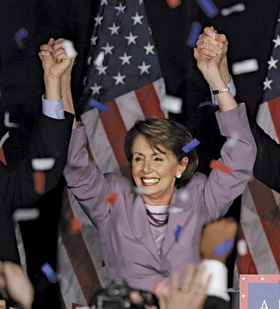 We need more victory pictures like this one. You go, Nancy Pelosi!