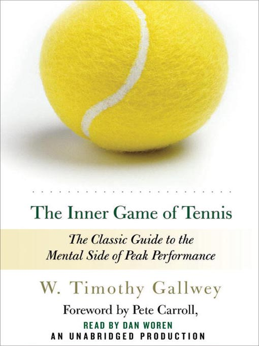 The Inner Game of Tennis, the book I was assigned to read.  Image from: blog.loyola.edu