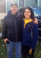 My dad and I on game day!