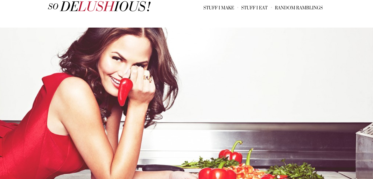 """Homepage of """"So Delushious"""""""