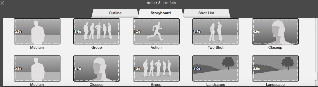 screenshot of iMovie's layout I've been struggling to learn