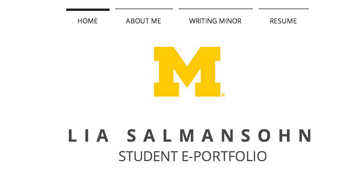 My digital e-portfolio mock-up
