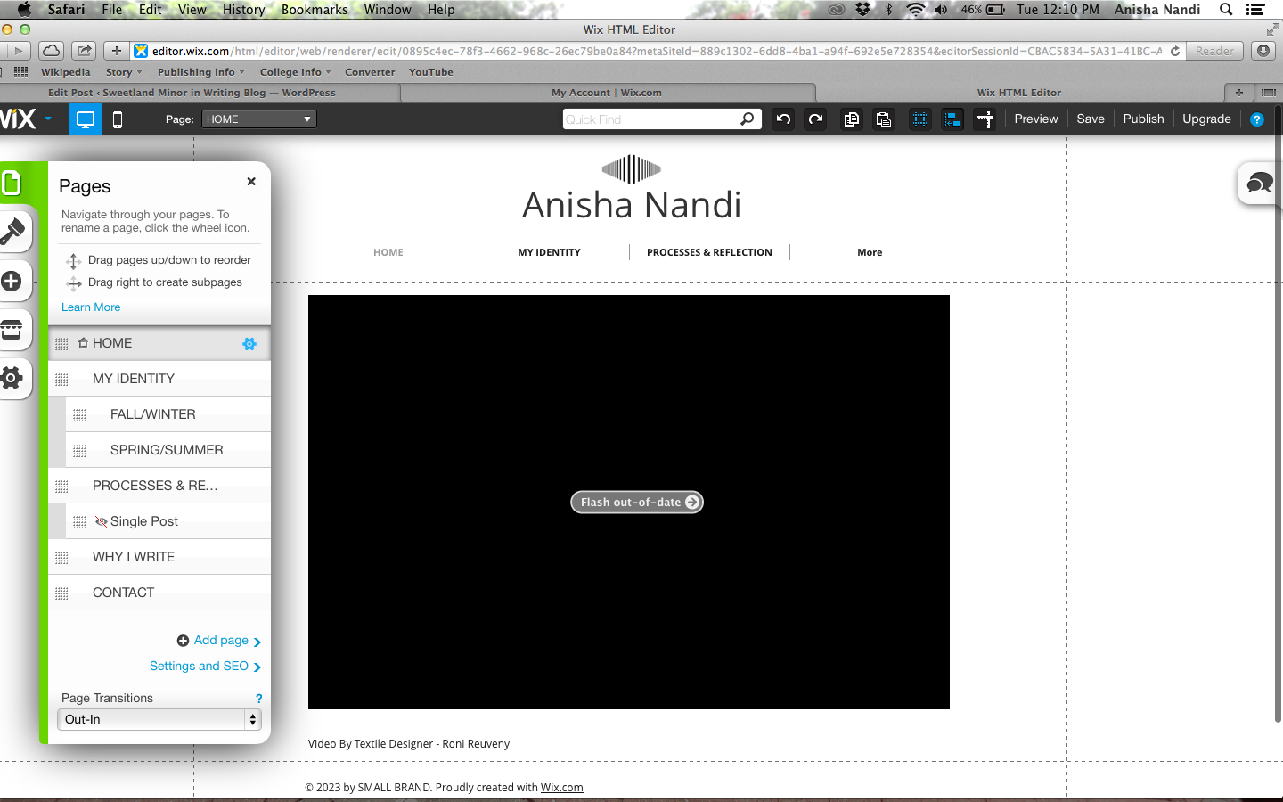 Home page with remediation project