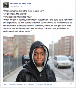 A boy tells the story of his experience with school.
