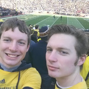 Me and my twin brother Dylan. (I am on the left)
