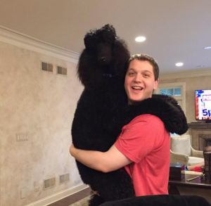 Roger, my standard poodle, and I