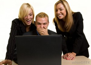 co-workers-laughing-at-computer