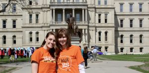 My mom and I at this year's MS Walk in Lansing.
